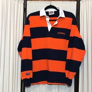 Men's Small Bushnell Rugby Sweater orange/blue